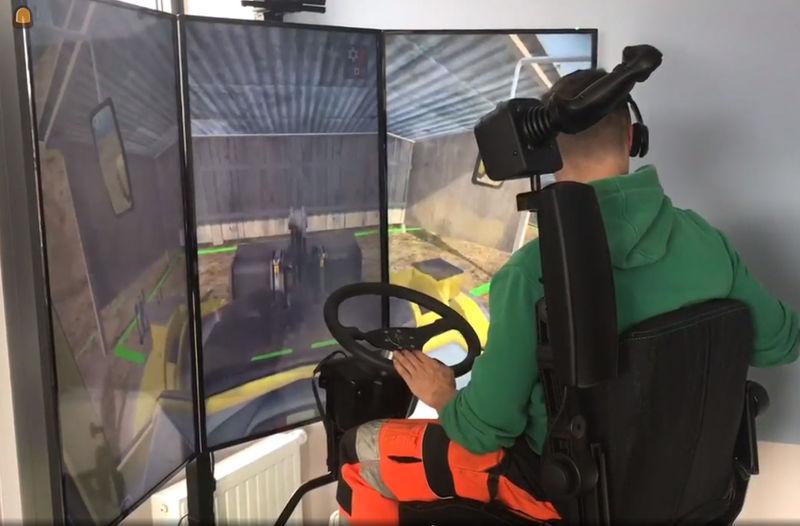 opleiding bouwplaatsmachinist met behulp van een simulator
