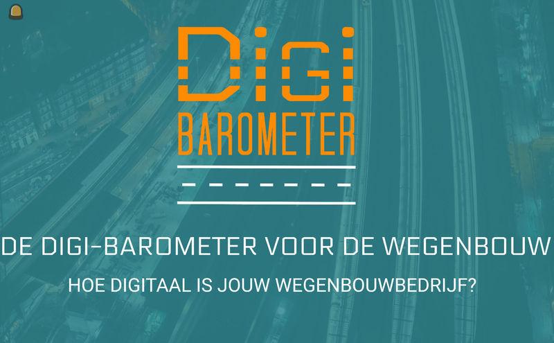 Door deel te nemen aan de Digi-Barometer krijgen wegenbouwbedrijf een objectief referentiepunt