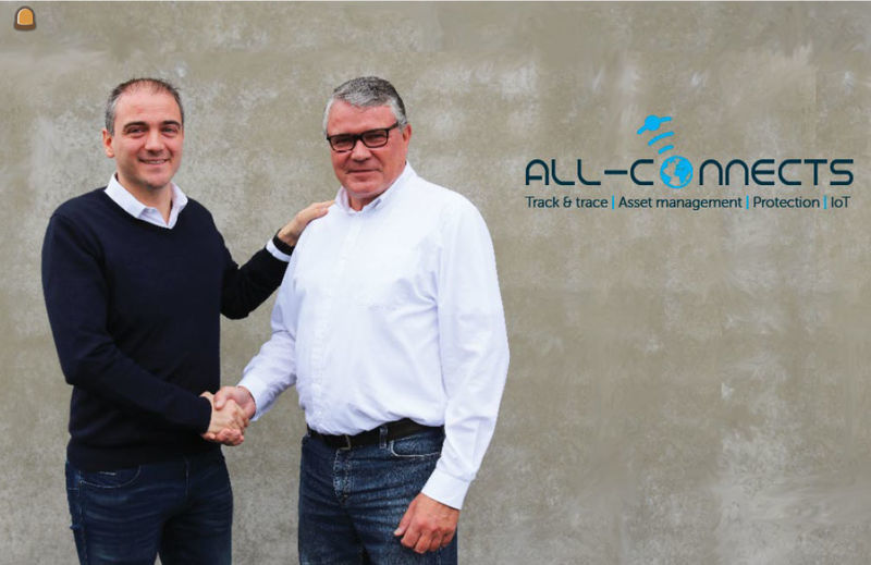 All-Connects Managing Director Philippe Minne (links) en oprichter van Intersat Christian Lasalle