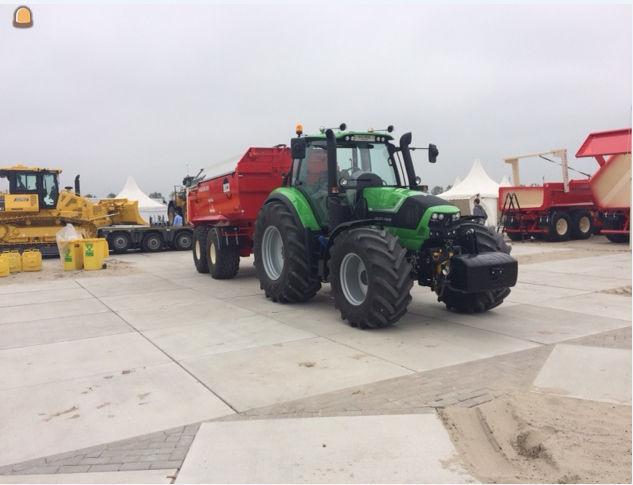 Deutz Fahr 6180 C tractor en Beco Maxxim 220 dumper voor Jan Ruizendaal uit Naarden