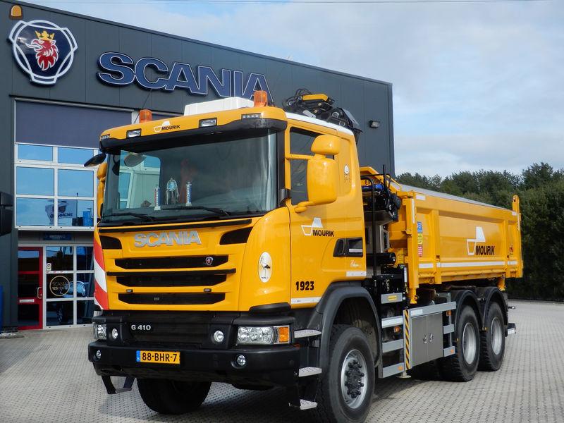Scania knijperauto G410 6x6