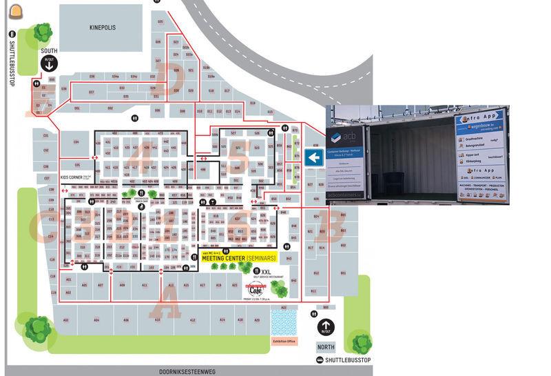 Hier kan je Wegenbouw.be & ACB Containers vinden op Matexpo