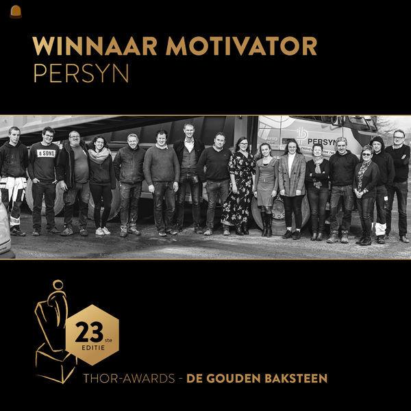 'Motivator van het jaar' uit aan Persyn NV voor hun vernieuwend HR-beleid.